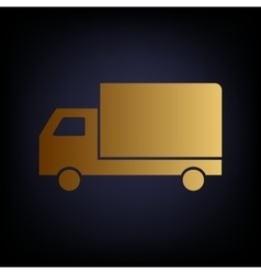 Delivery sign Golden style icon vector image