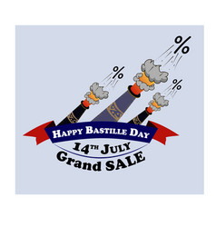 design element for sale on the french national day vector image