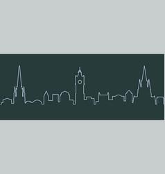 edinburgh single line skyline vector image