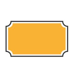 elegant badge seal icon vector image