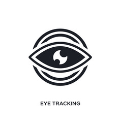Eye tracking isolated icon simple element from vector