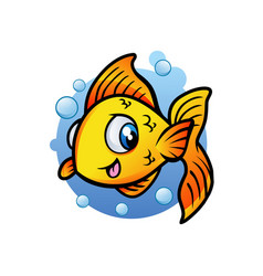 fish aquatic mascot design vector image