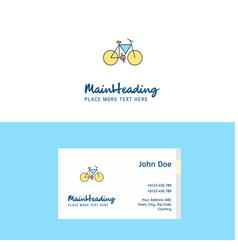 flat cycle logo and visiting card template vector image