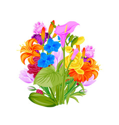 floral wreath summer flowers arranged in wreath vector image