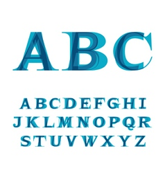 Font consisting of three letters vector
