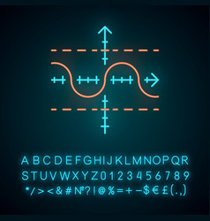 Function graph neon light icon duplicate function vector