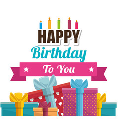 gift box present birthday card vector image