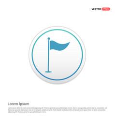 Golf flag icon - white circle button vector