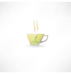 Green tea cup icon vector