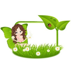 Greeting card with fairy vector