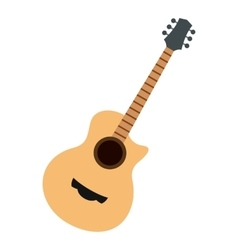 Guitar icon flat style vector image