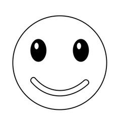Happy emoticon face kawaii style vector