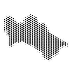 Hexagon turkmenistan map vector