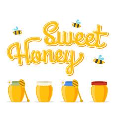 honey jars vector image