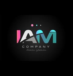 Iam i a m three letter logo icon design vector