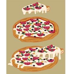 Italian handmade pizza vector