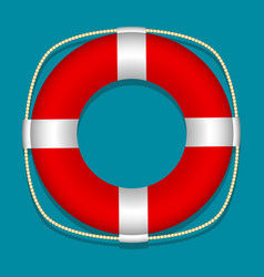 lifebuoy blue background isolated object vector image
