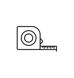 measurement tape measure tape construction vector image