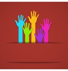 modern colorful hands background vector image
