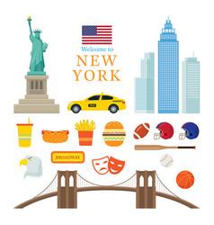new york landmarks objects vector image