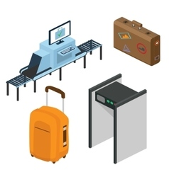 Objects in a airport Part of the interior vector image