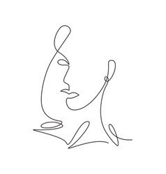 one continuous line drawing sexy beauty woman vector image