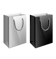 paper bag template for design vector image