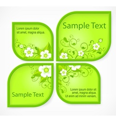 Pattern flower banners vector image