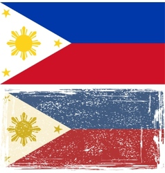 Philippines grunge flag Grunge effect can be vector