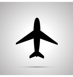 Plane simple black icon vector