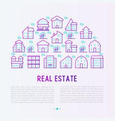 real estate concept in half circle vector image