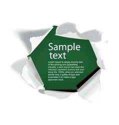 realistic torn paper with space for your text vector image