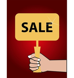 Sale board vector image