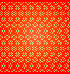 seamless geometric pattern on red background vector image