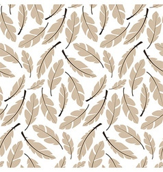 Seamless pattern design with bohemian feathers vector