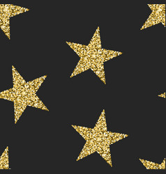seamless pattern with glittering stars shining vector image