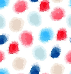 seamless watercolor dots background vector image