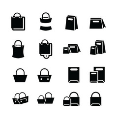 shopping bags set design vector image