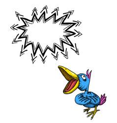 singing bird-100 vector image