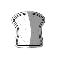 slice of bread vector image