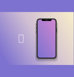 smartphone with blank screen mock up vector image