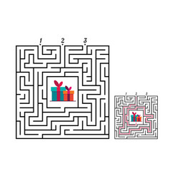 square maze labyrinth game for kids labyrinth vector image