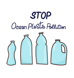 stop ocean plastic pollution vector image