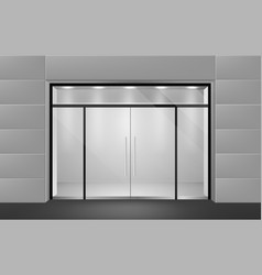 store front view from outside to empty vector image