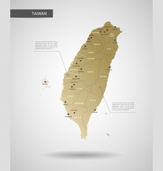 stylized taiwan map vector image