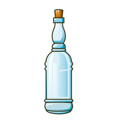 transparent olive oil bottle icon cartoon style vector image