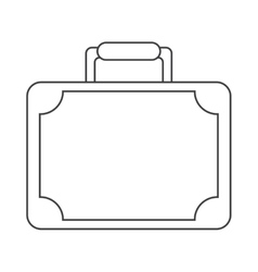 travel suitcase modern style equipment thin line vector image