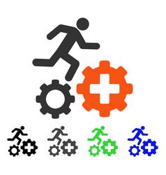 Treatment process flat icon vector