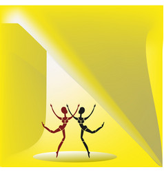 Two dancing figures vector