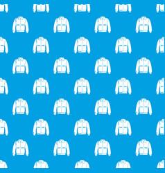varsity jacket pattern seamless blue vector image